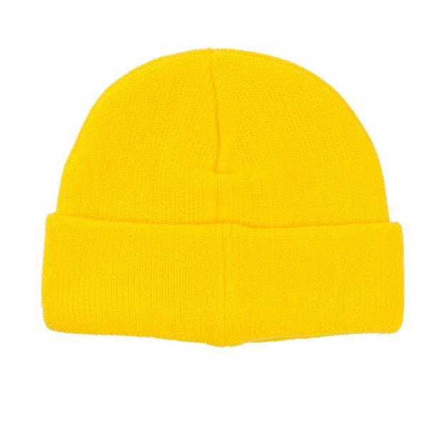 ice cream header knit beanie yellow