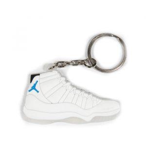 jordan retro 11 legend blue keychain