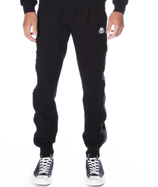 kappa alanz pants black white antique front