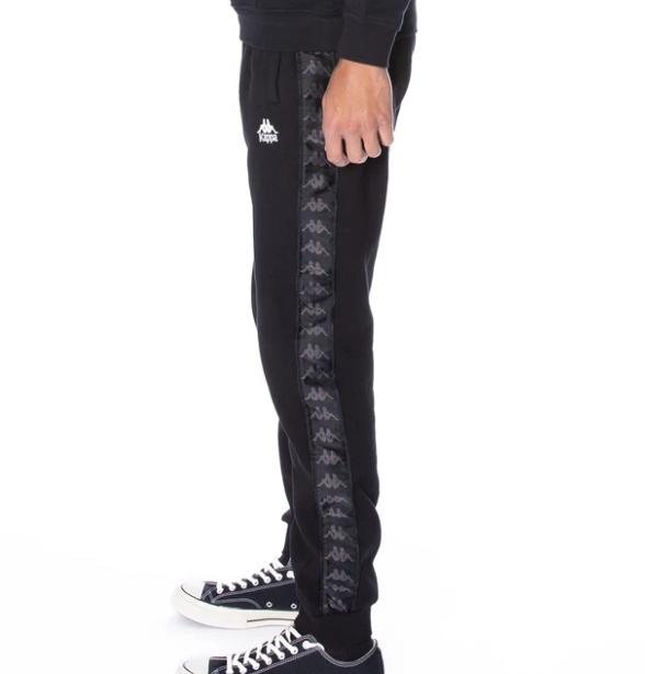 kappa alanz pants black white antique side