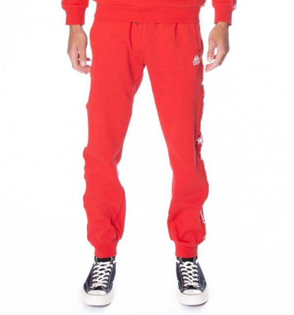 kappa alanz pants red blaze white antique front