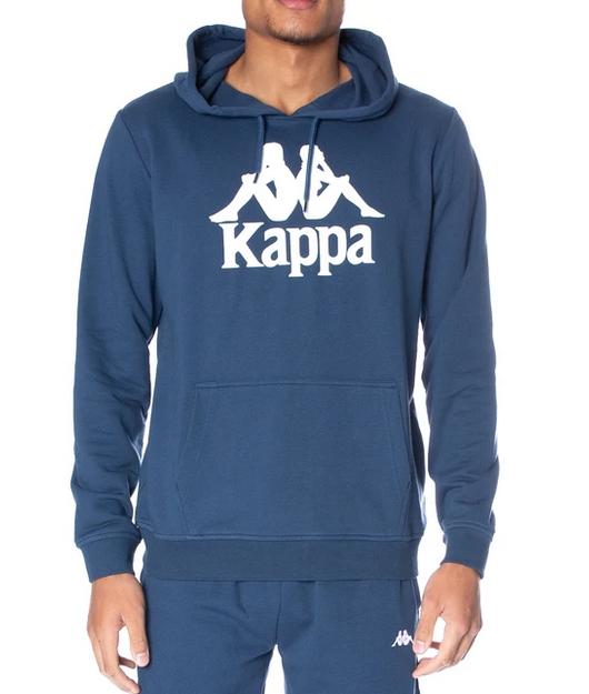 kappa authentic zimm hoodie dark navy white front