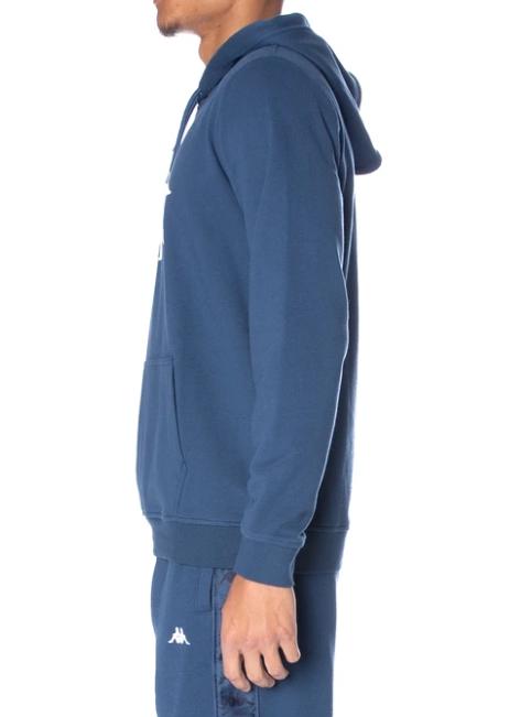 kappa authentic zimm hoodie dark navy white side