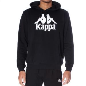 kappa authentic zimm hoodie black white