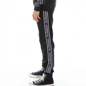 kappa logo tape alic pants back black white side