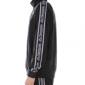 kappa logo tape artem track jacket black white side