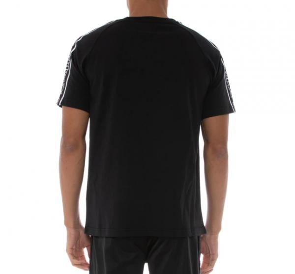 kappa logo tape avirec black black white back