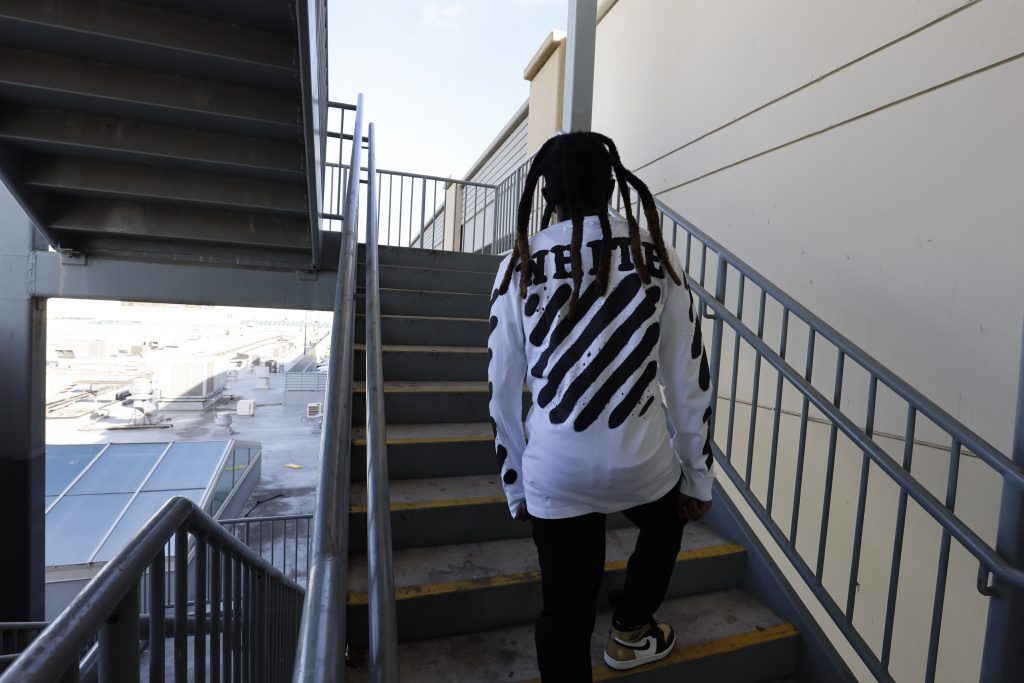 Nef The Pharaoh rapper vallejo in off white clothing