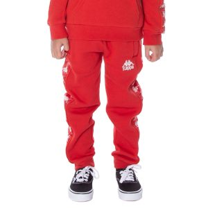 Kids Kappa Alanz Pants Red