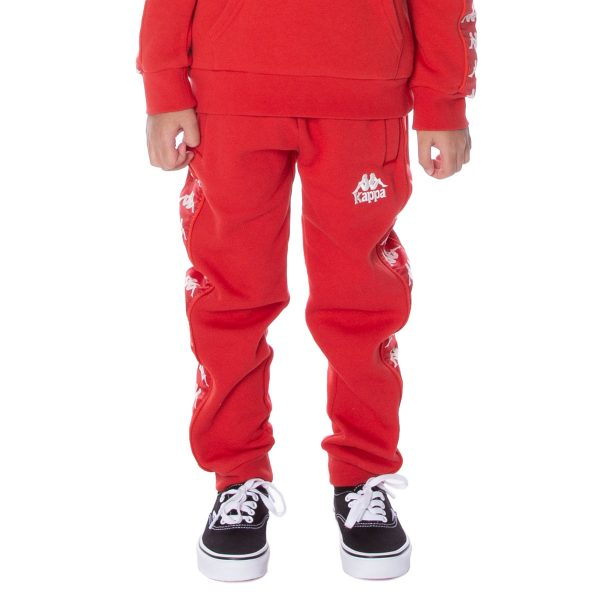 Kids Kappa Alanz Pants Red