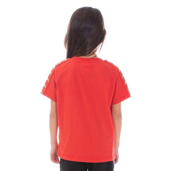 Kids Kappa Balima Tee Red Back