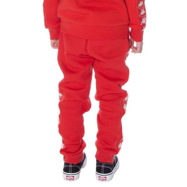 Kids Kappa Alanz Pants Red back