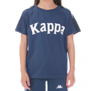 kids kappa balima tee dark blue white front