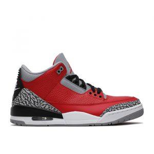 """Jordan Retro 3 """"Fire Red Cement"""" Chi"""