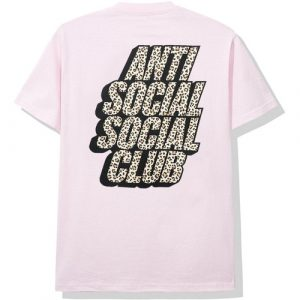 anti social social club kitten tee pink