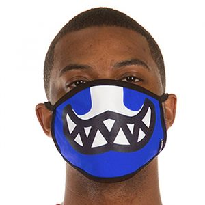 Ice Cream Grin Mask Nautical Blue