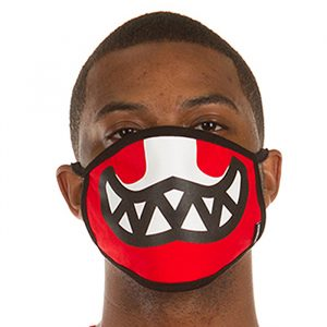 Ice Cream Grin Face Mask Tomato Red