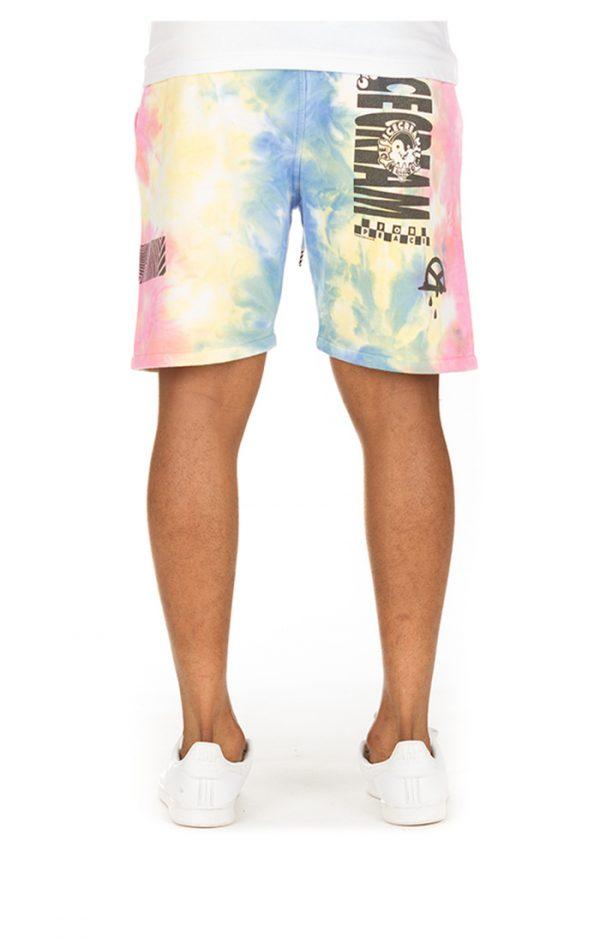Ice Cream Melt Shorts Tie Dye Back