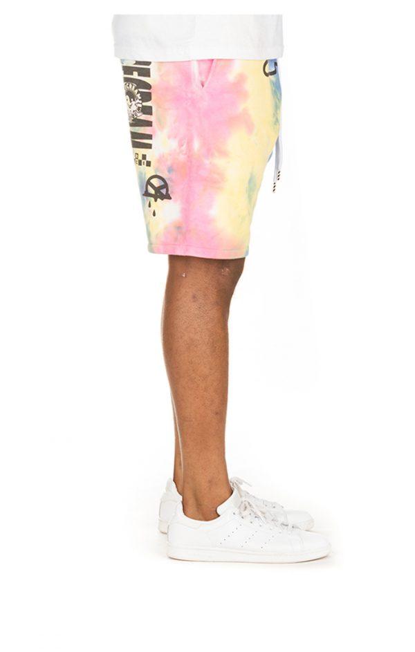 Ice Cream Melt Shorts Tie Dye Right Leg