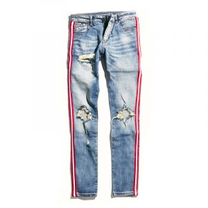 crysp denim line denim blue red stripe