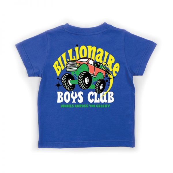 Billionaire Boys Club Kids wheels ss tee blue