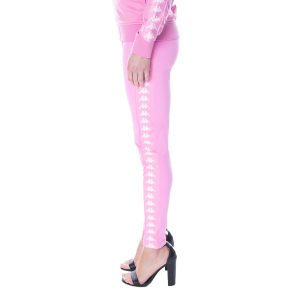Womens Kappa Authentic Anen Leggings Pink Fuschia White