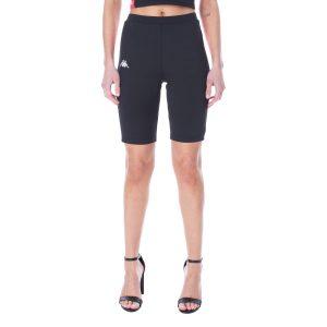 Womens Kappa Cicles Shorts Black Red Front