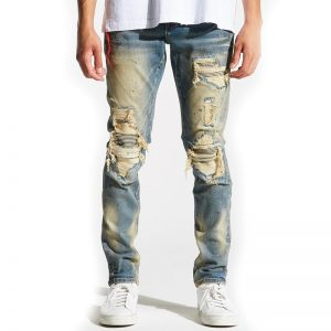 embellish barrett rip and repair denim front