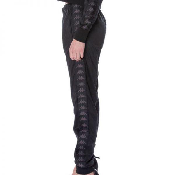 Womens Kappa wrastoria Pants Black White Antique side