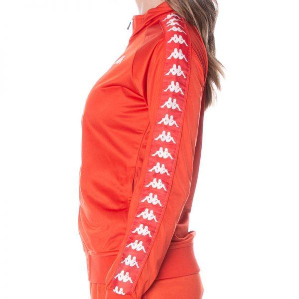 Kappa Womens Anniston Jacket Red Blaze White Antique Side