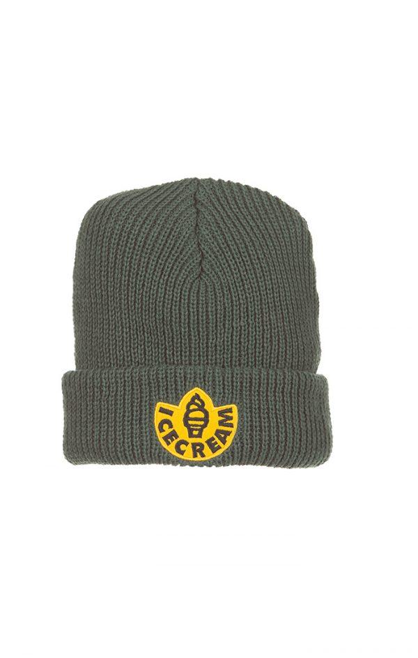 Ice Cream Rubber Knit Hat Jungle Green