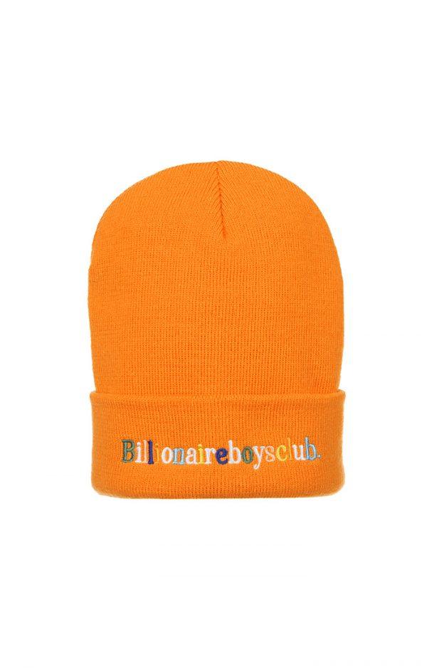 Billionaire Boys Club BB Alphabet Skully Beanie Orange