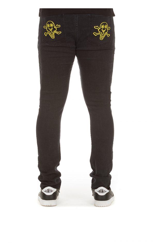 Ice Cream College Jeans Black Back
