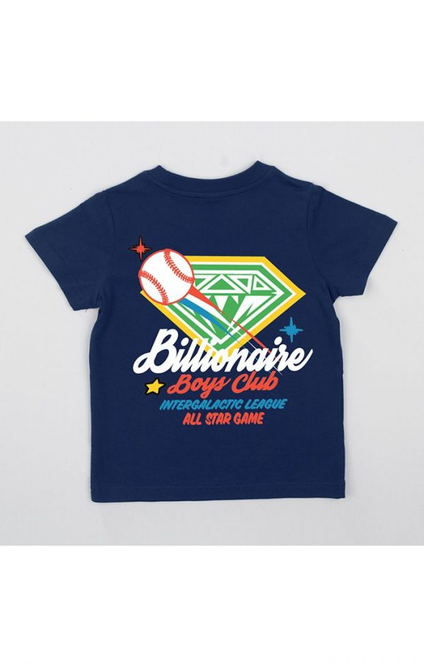 Kids Billionaire Boys Club BB All Star SS Tee Navy Blazer Back