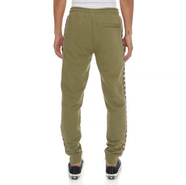 Kappa Authentic Banda Alanz 3 Pants Green Olive Back